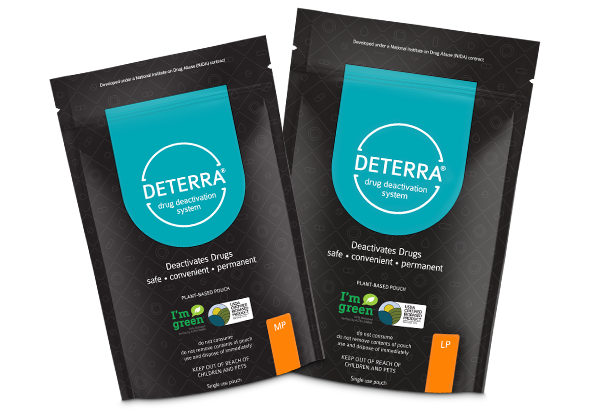 Two Deterra Pouches