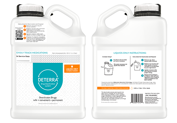 Deterra Liquids Only 1.0 Gallon Container