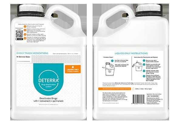 Deterra Liquids Only 1.0 Gallon Container