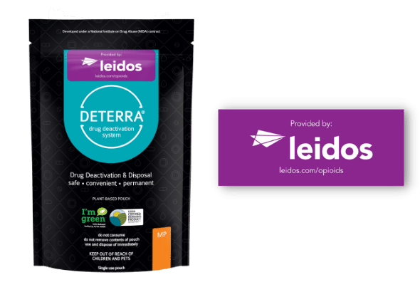 Deterra Pouch and Label